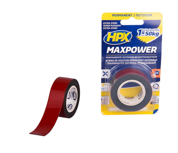 HPX Tapes Max Power Outdoor Bevestigingstape Zwart 1.5 mtr