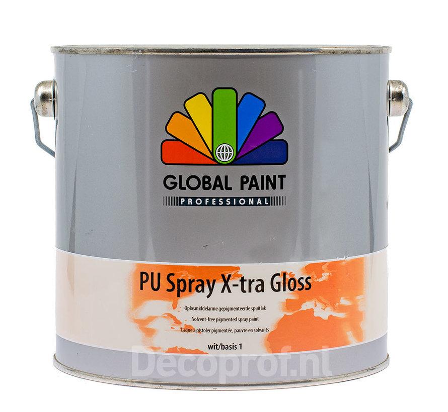 PU Spray X-Tra Gloss | Verspuitbare Hoogglans Binnenlak