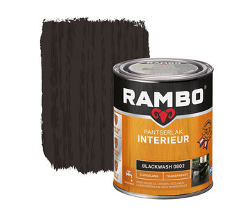Rambo Pantserlak Interieur Transparant Zijdeglans Blackwash 0802