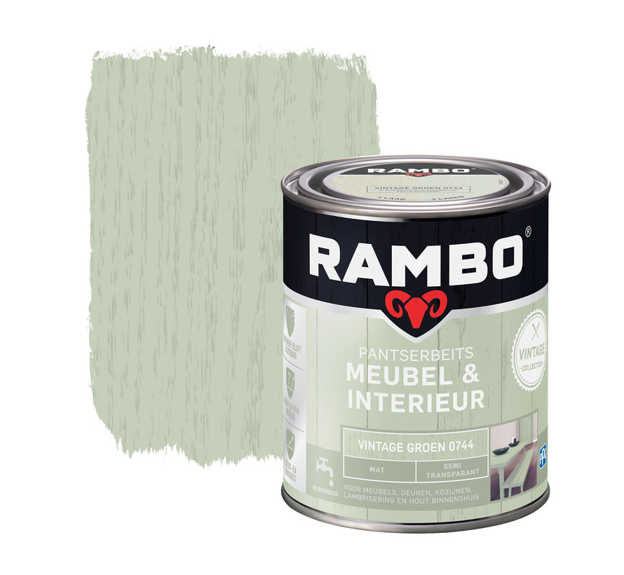 Pantserbeits Meubel&Interieur Mat Vintage Groen 0744