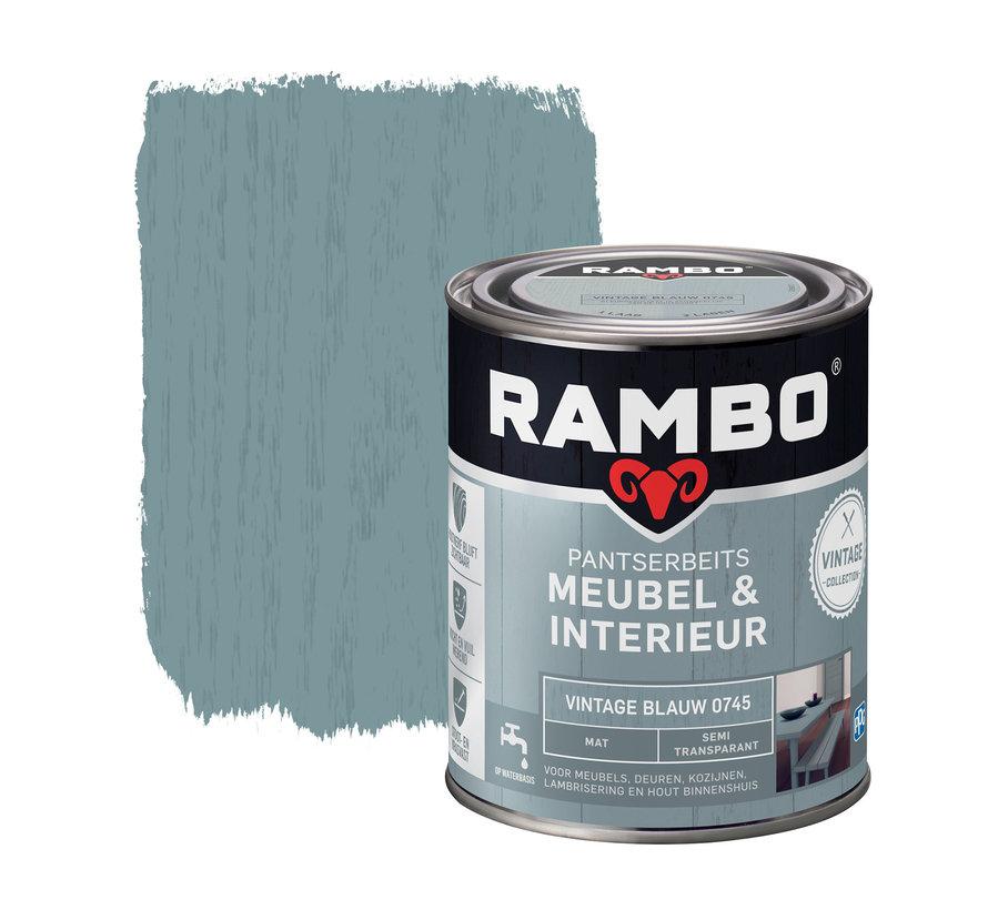 Pantserbeits Meubel&Interieur Mat Vintage Blauw 0745