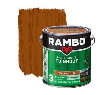 Rambo Pantserbeits Tuinhout Zijdeglans Transparant Teakhout 1204