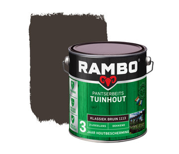 Rambo Pantserbeits Tuinhout Zijdeglans Dekkend Klassiekbruin 1113
