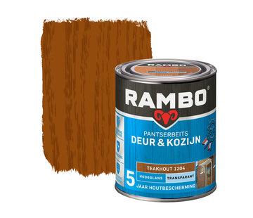 Rambo Pantserbeits Deur&Kozijn Hoogglans Transparant Teakhout 1204