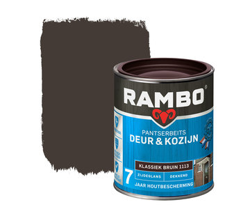 Rambo Pantserbeits Deur&Kozijn Zijdeglans Dekkend Klassiekbruin 1113