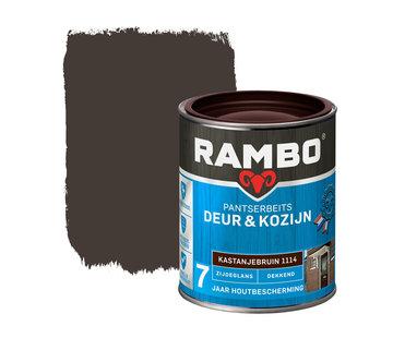 Rambo Pantserbeits Deur&Kozijn Zijdeglans Dekkend Kastanjebruin 1114