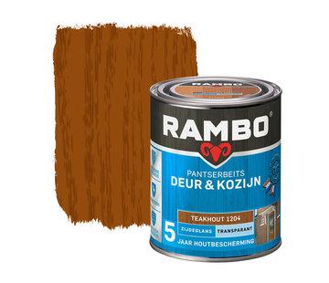 Rambo Pantserbeits Deur&Kozijn Zijdeglans Transparant Teakhout 1204
