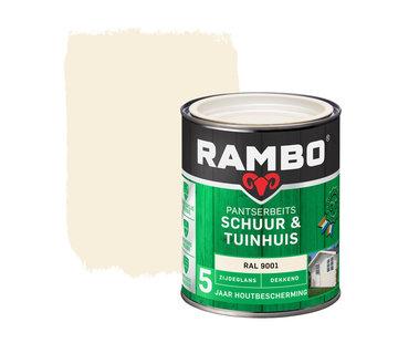 Rambo Pantserbeits Schuur&Tuinhuis Zijdeglans Dekkend Ral 9001