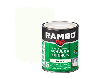 Rambo Pantserbeits Schuur&Tuinhuis Zijdeglans Dekkend Ral 9010