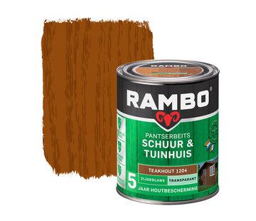 Rambo Pantserbeits Schuur&Tuinhuis Zijdeglans Transp. Teakhout 1204