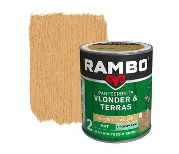 Rambo Pantserbeits Vlonder&Terras Mat Transp. Teak 1220