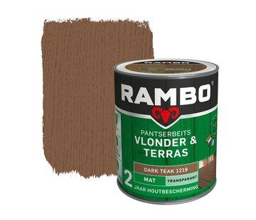 Rambo Pantserbeits Vlonder&Terras Mat Transp. Darkteak 1219