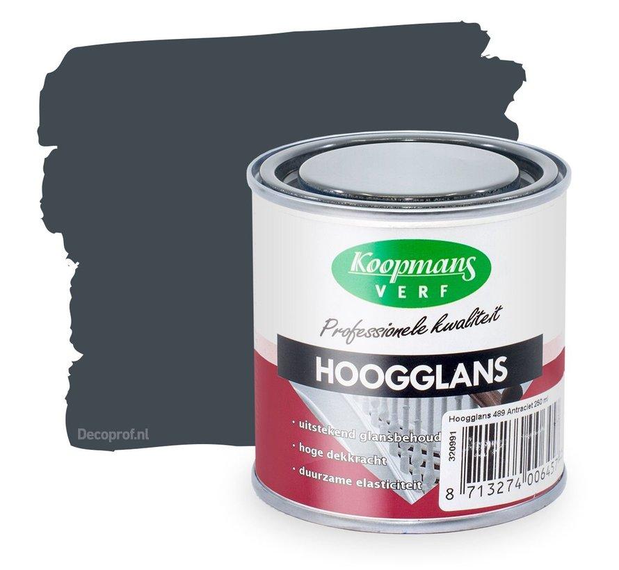 Hoogglans 489 Antraciet