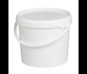Hildering Kunststof Emmer Wit + Deksel 5,6 LTR