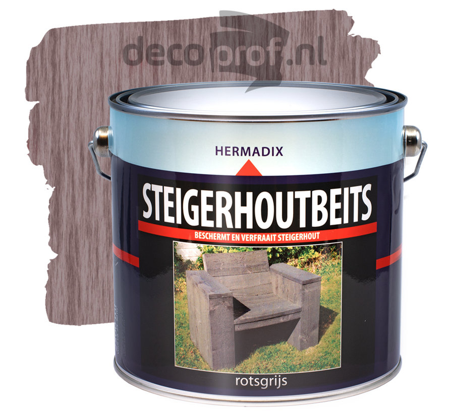 Steigerhoutbeits Rotsgrijs