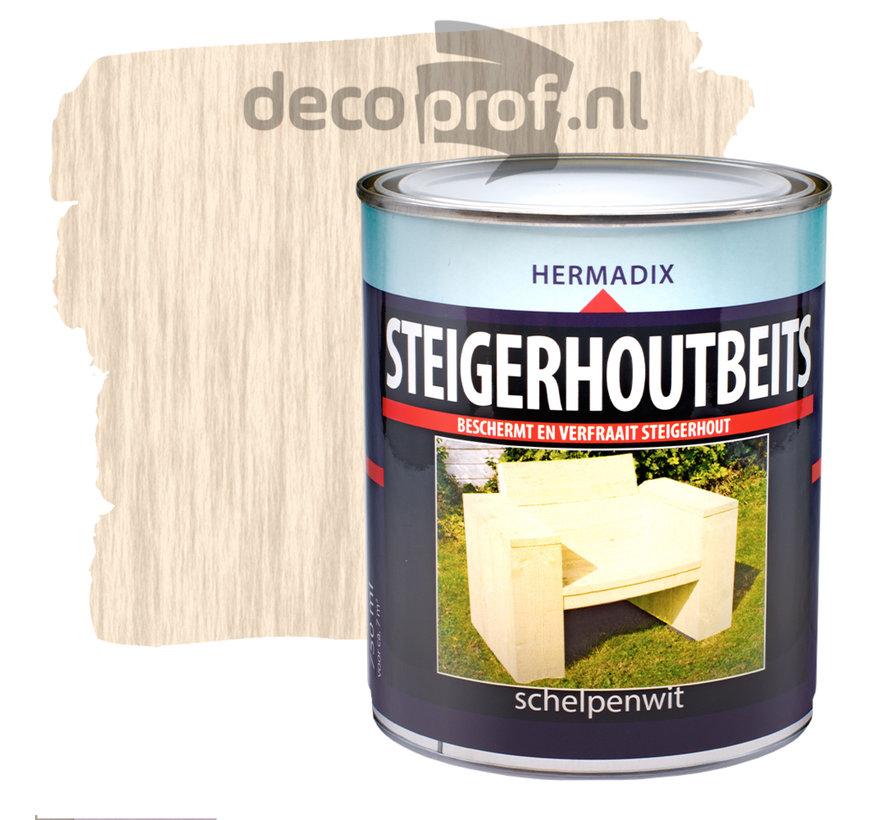 Steigerhoutbeits Schelpenwit