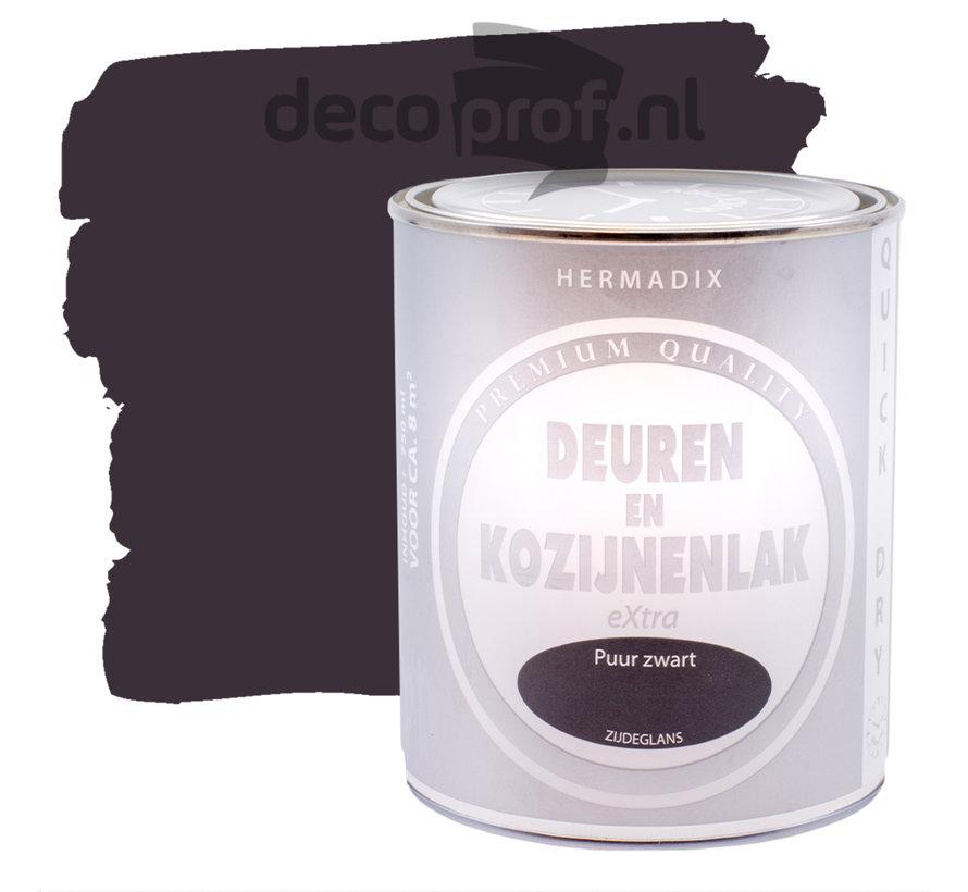 Deuren&Kozijnenlak Extra Zijdeglans Puur Zwart