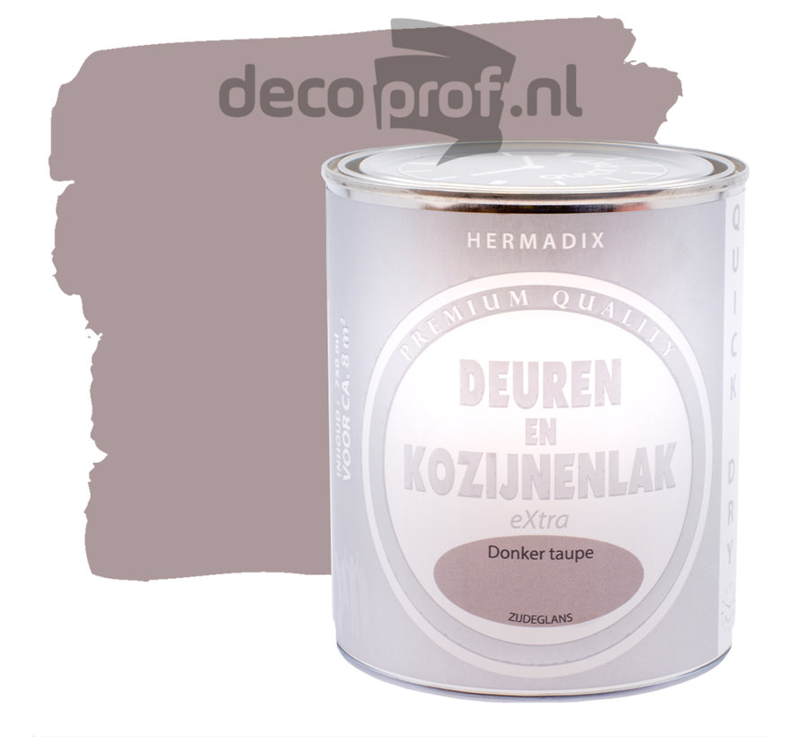 Deuren&Kozijnenlak Extra Zijdeglans Donker Taupe