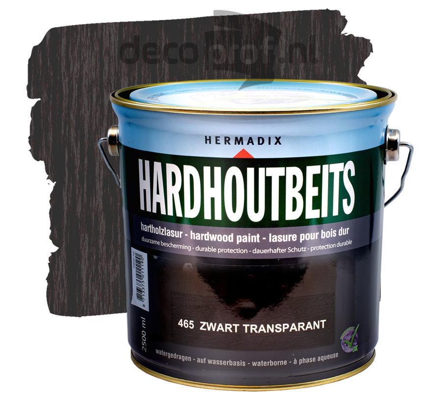 Hardhoutbeits Transparant Zwart