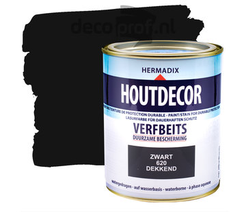 Hermadix Houtdecor Dekkend Zwart
