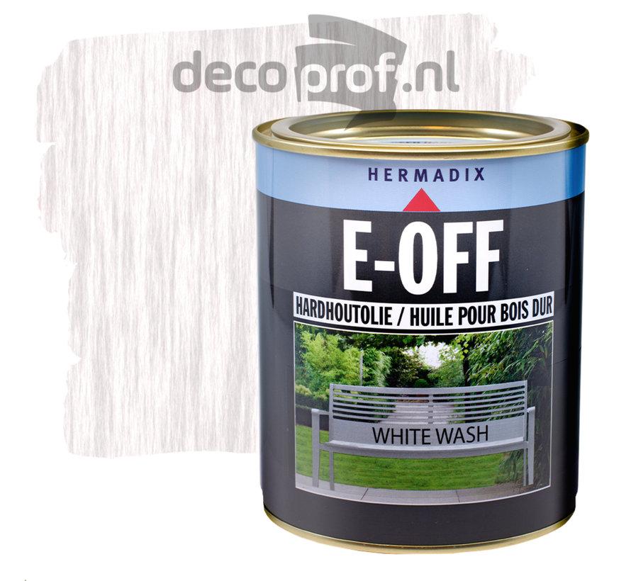 E-Off Hardhout Olie White Wash