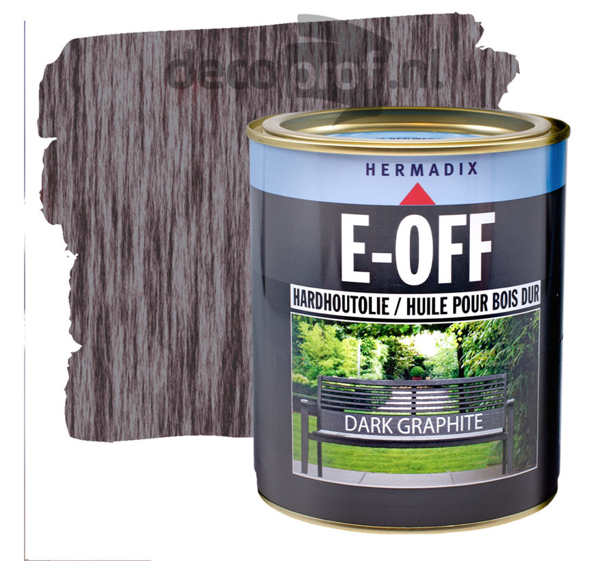 E-Off Hardhout Olie Dark Graphite