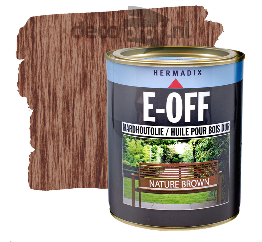E-Off Hardhout Olie Nature Brown