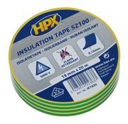 HPX Tapes PVC Isolatietape Geel/Groen 20 mtr