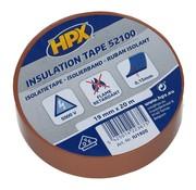 HPX Tapes PVC Isolatietape Bruin 20 mtr