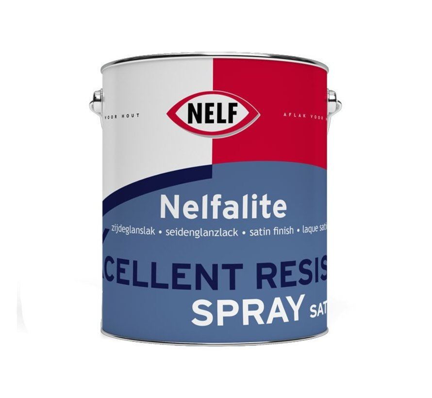 Nelfalite Xcellent Resist Spray Satin | Verspuitbare Zijdeglans Binnenlak