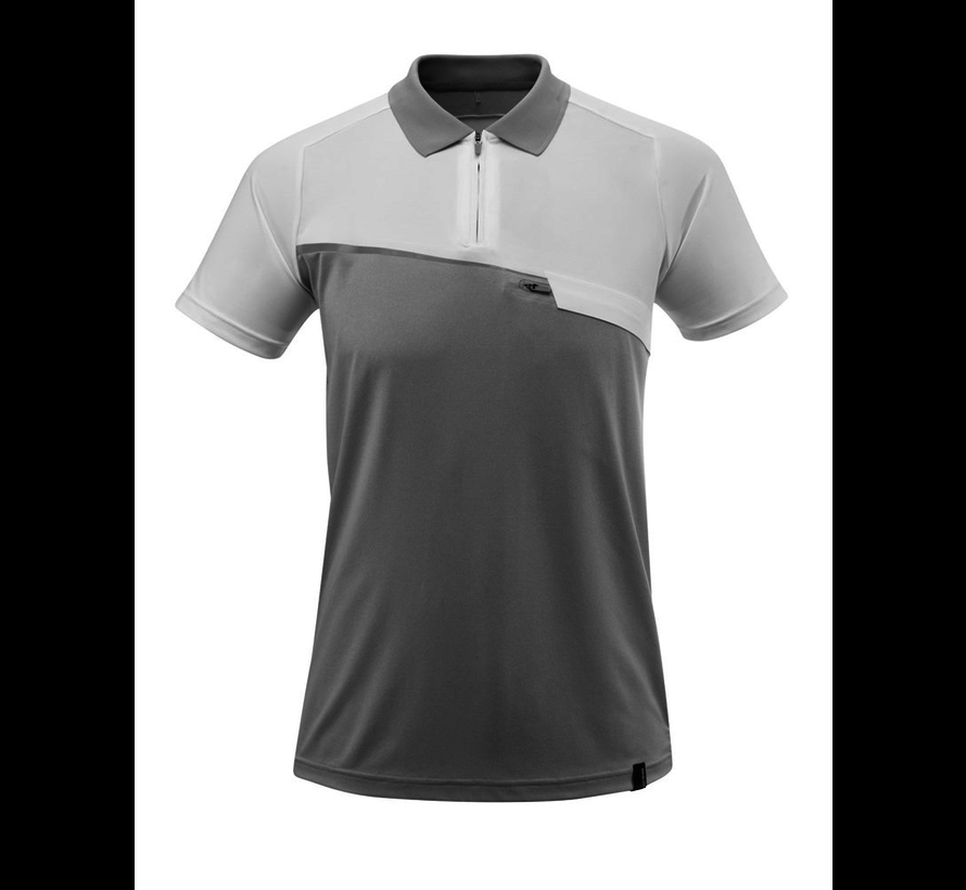Poloshirt Met Borstzak Grijs/Melee Wit