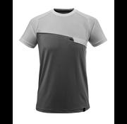 Mascot T-Shirt Met Borstzak Grijs/Melee-Wit
