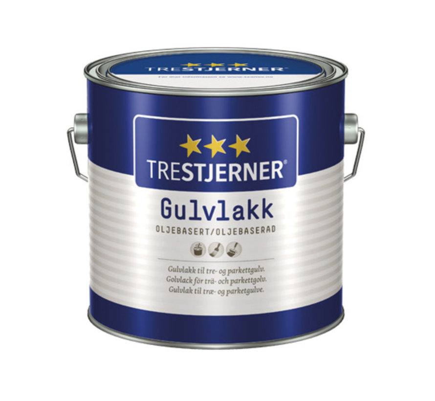 Trestjerner Gulvlakk Halvblank Solvent   Zijdeglans Blanke Lak