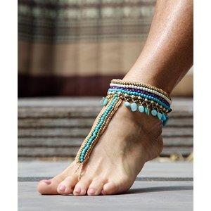 Barefoot sandals Ibiza Turquoise