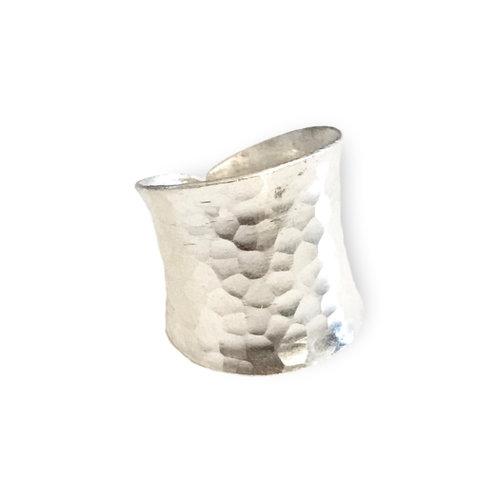 Zilveren Hammered ring