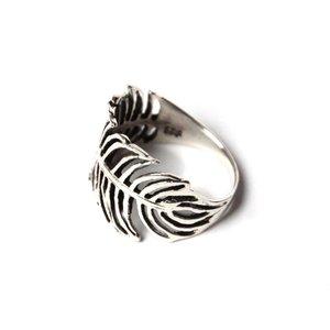 Zilveren BOHO ring Feather