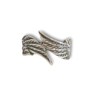 Zilveren BOHO ring Angel wings #5