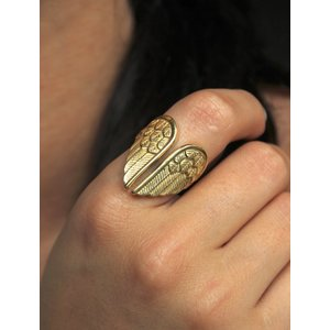 BOHO ring Angel Wings verguld