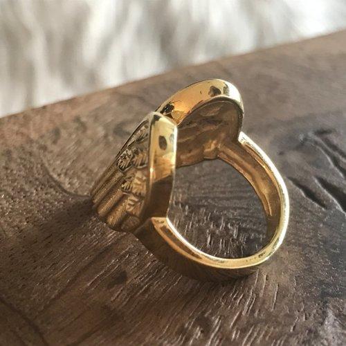 BOHO ring Angel Wings verguld