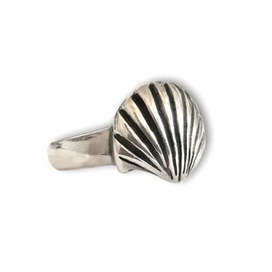 Zilveren ring Shell