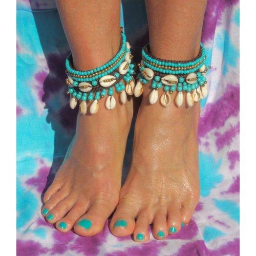 Enkelband Concha turquoise