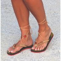 Bohemian Flip Flops 2 (rood/geel)