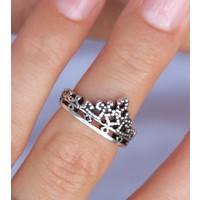 Zilveren ring Crown
