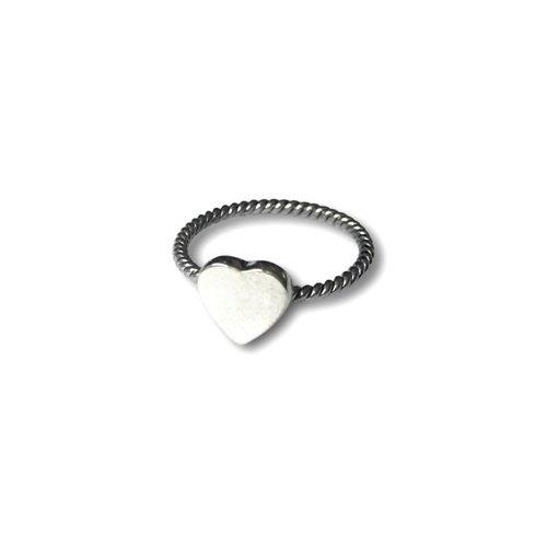Zilveren ring Hart
