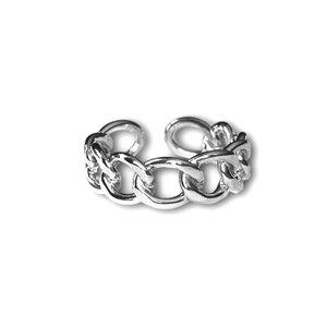 Zilveren ring Chain