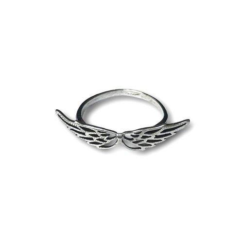 Zilveren Angel wings ring