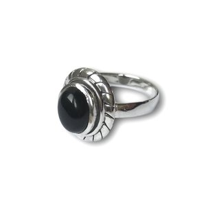 Zilveren ring Black Onyx