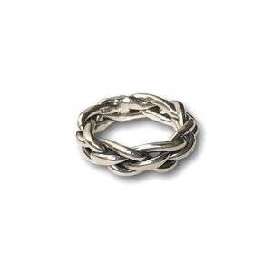 Zilveren ring Vlecht