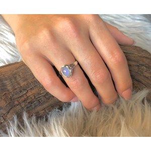 Zilveren ring Maansteen