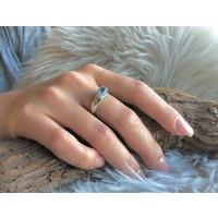 Zilveren ring Aquamarijn